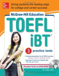 McGraw-Hill Education TOEFL IBT with 3 Practice Tests and DVD-ROM [With CDROM]