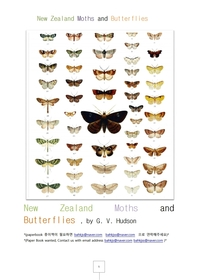 뉴질랜드나비와나방New Zealand Moths and Butterflies.
