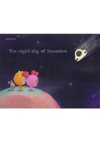 The night sky of Semosina