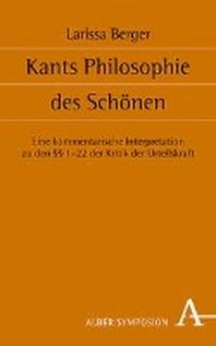 Kants Philosophie Des Schonen