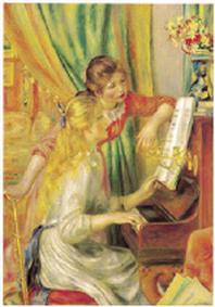 재원브로마이드. 31: 르누아르/피아노 앞의 두 소녀