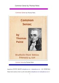 토마스 페인의 상식.Common Sense by Thomas Paine