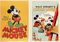 디즈니 미키 마우스 프레임 포스터 세트. 1