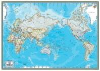 세계지도(행정)(블루)(한글S)(족자)(W-011)