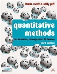 Quantitative Methods for Business, Management & Finance
