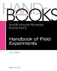 Handbook of Field Experiments, 1