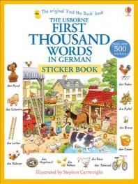 First Thousand Words German Sticker Book