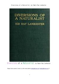 동물과 식물의 연구자들의 학문적인 반전들.Diversions of a Naturalist, by Edwin Ray Lankester