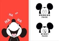 디즈니 미키 마우스 프레임 포스터 세트. 2