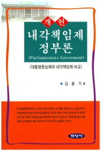 개헌 내각책임제 정부론