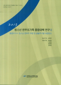 청소년 한부모가족 종합대책 연구. 2: 총괄보고서(2013)