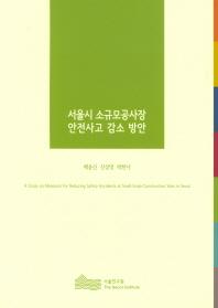 서울시 소규모공사장 안전사고 감소 방안(2017)