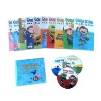 George Brown,Class Clown.1~10 (Book+CD+Wordbook) Full Set