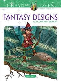 Creative Haven Fantasy Designs Coloring Book