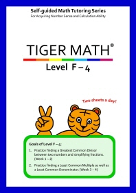 Tiger Math Level F-4