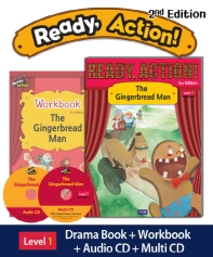 Ready Action. 1: The Gingerbread Man(SB+WB+CDs)