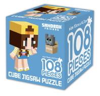 샌드박스프렌즈 큐브 직소 퍼즐 108조각 잠뜰과 고양이