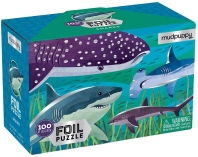 Mudpuppy Sharks Foil Puzzle
