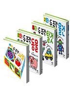 [애플비] 두 조각 퍼즐 시리즈 (동물/탈것/물건/과일)(전 4권)