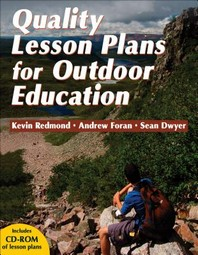 Quality Lesson Plans for Outdoor Education [With CDROM]