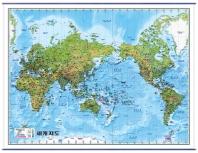 세계지도(지세)(메르카토르도법)(한글)(국전지2매)