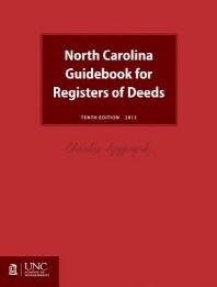 North Carolina Guidebook for Registers of Deeds
