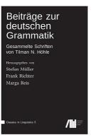Beitraege zur deutschen Grammatik