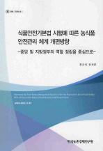식품안전기본법 시행에 따른 농식품 안전관리 체계 개편방향