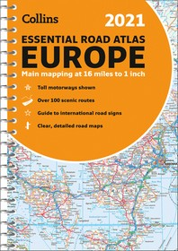 2021 Collins Essential Road Atlas Europe