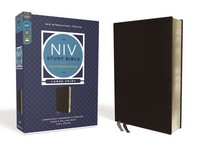 NIV Study Bible, Fully Revised Edition, Large Print, Bonded Leather, Black, Red Letter, Comfort Print
