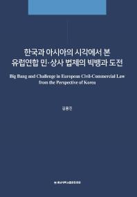 한국과 아시아의 시각에서 본 유럽연합 민·상사 법제의 빅뱅과 도전