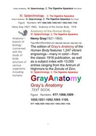 그레이아나토미 해부학의 제11권 2부 소화기관학 텍스트책.Gray's Anatomy. XI. Splanchnology. 2. The Digestive Apparatus Text Book,by Henry Gray