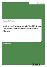 """Analyse des Protagonisten in """"Carl Haffners Liebe zum Unentschieden"""" von Thomas Glavinic"""