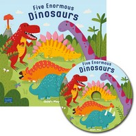 Five Enormous Dinosaurs [With CD (Audio)]