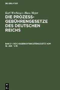 Reichsgerichtskostengesetz vom 18. Juni 1878