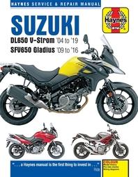 Suzuki Dl650 V-Strom '04 to '19 and Sfv650 Gladius '09 to '16