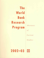 The World Bank Research Program 2002-2003