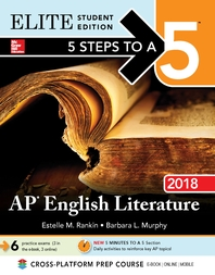5 Steps to a 5  AP English Literature 2018 Elite Student Edition