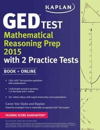 Kaplan GED(R) Test Mathematical Reasoning Prep 2015