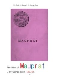 조르주 상드의 모프라.영어.The Book of Mauprat, by George Sand .English.
