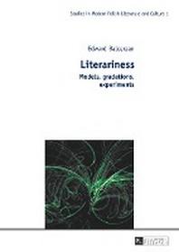 Literariness; Models, gradations, experiments