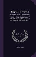 Disputes Review'd