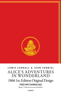 Alice's Adventures in Wonderland(이상한 나라의 앨리스)(영어판)(초판본)(1866년 초판본 오리지널디자인)