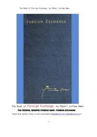 미국연방준비은행의 외환정책.The Book of Foreign Exchange, by Robert Latham Owen
