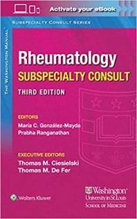 Washington Manual Rheumatology Subspecialty Consult, 3/ed