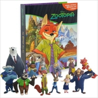 My Busy Book: Disney Zootopia  (미니피규어 12개 + 놀이판)