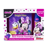 Disney Minnie Mouse - Best Friends Pop-Up Sound Board Book and Flashlight - Pi Kids [With Flashlight