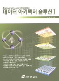 데이터 아키텍처 솔루션. 1