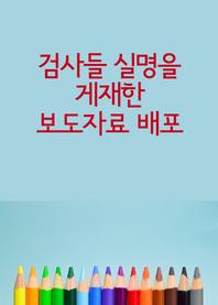 검사들 실명을 게재한 보도자료 배포 (국회의원 면책특권)