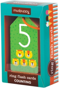 Mudpuppy Illustrated Counting Flash Cards for Ages 1 to 3